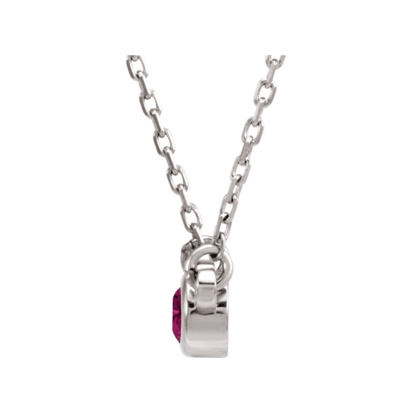 Gemstone Necklaces - Imitation Tourmaline Necklace - image #2