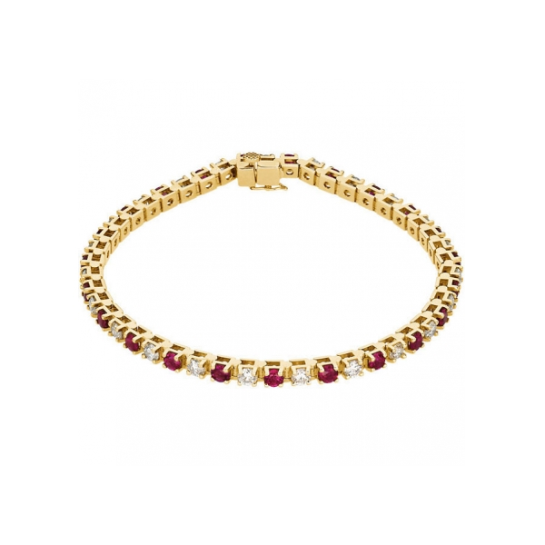 bracelet diamond star for women ruby amulette