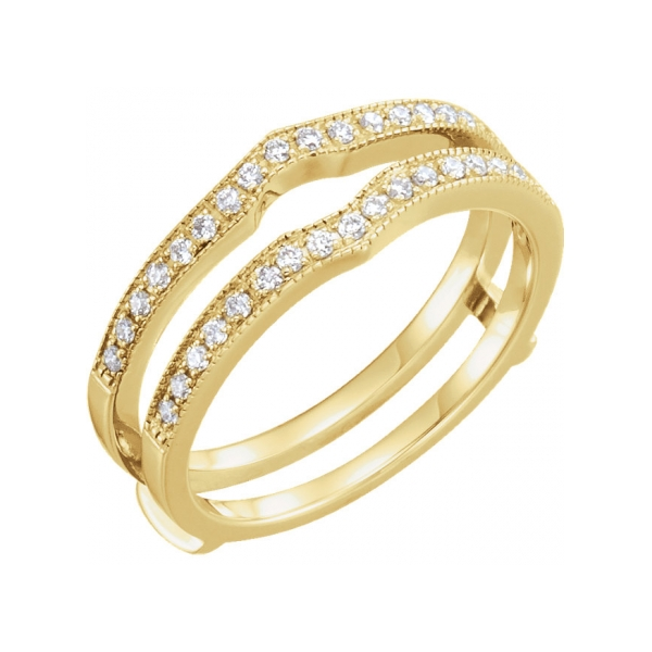 14K Yellow Gold Engagement Ring Guard by Stuller