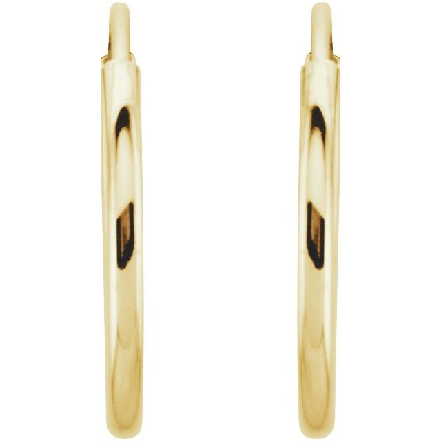 Earrings - 14K Yellow Gold Earrings - image #2