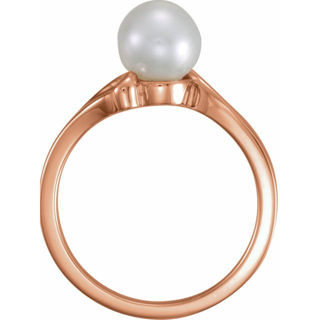 Gemstone Rings - Pearl Ring - image 2