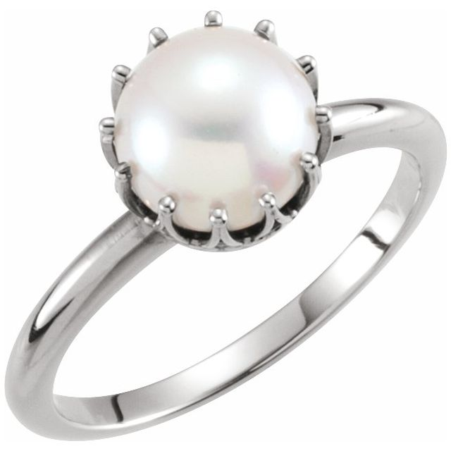 Rings - Pearl Crown Ring