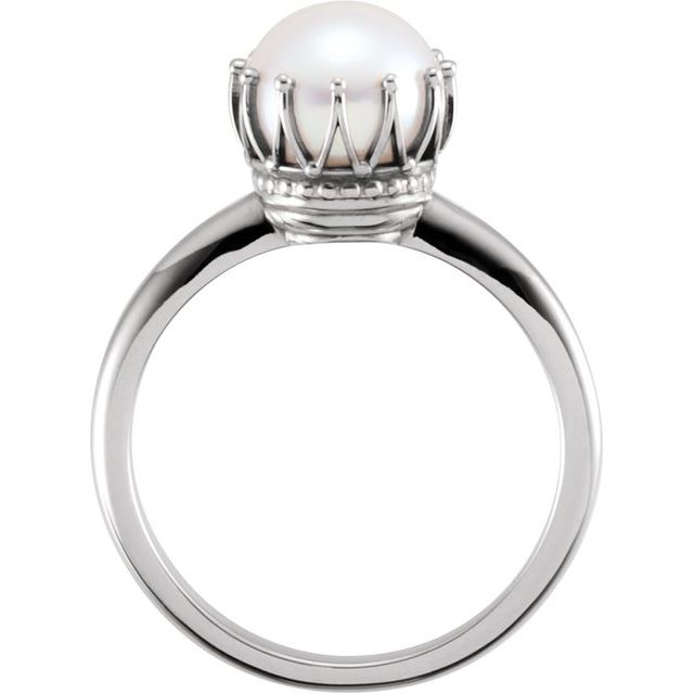 Rings - Pearl Crown Ring - image #2