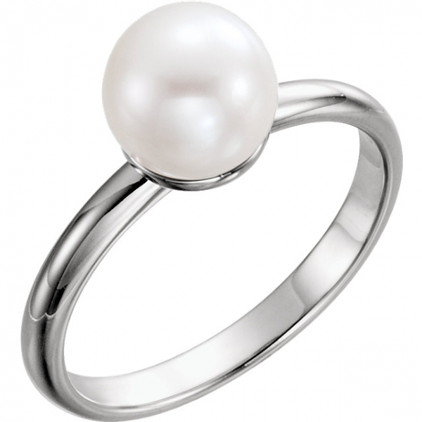 Anniversary Bands - Solitaire Pearl Ring