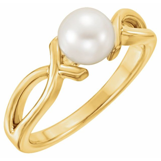 Gemstone rings - Freeform Pearl Ring