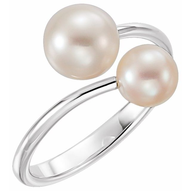 Rings - Two-Stone Pearl Bypass Ring