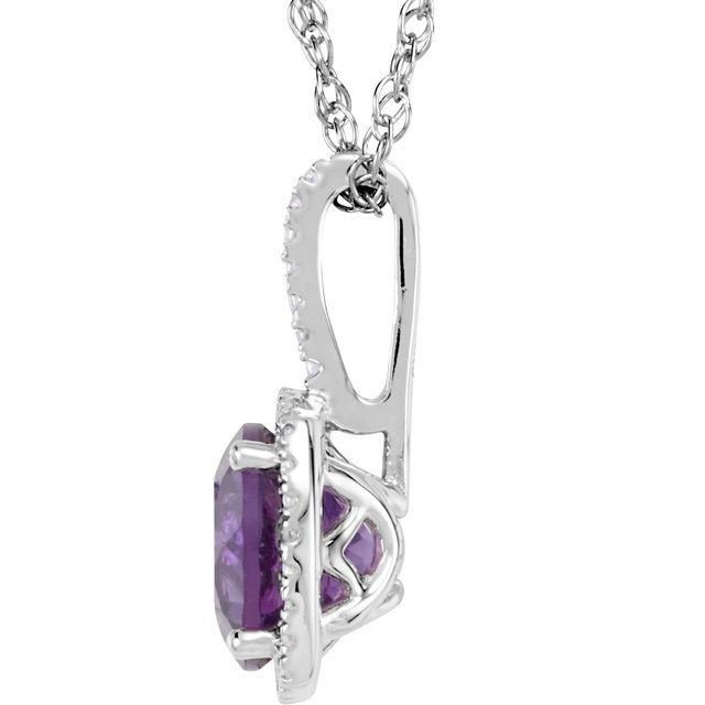 Gemstone Necklaces - Halo-Style Necklace - image #2