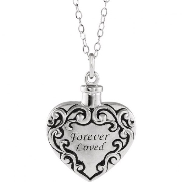 Diamond Necklaces - Forever Loved Ash Holder Necklace