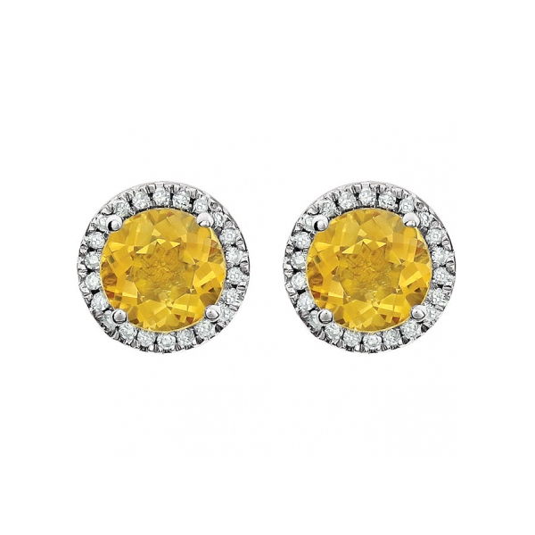 Gemstone Earrings Genuine Citrine Image 2