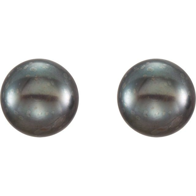 Earrings - Freshwater Cultured Pearl Stud Earrings - image #2
