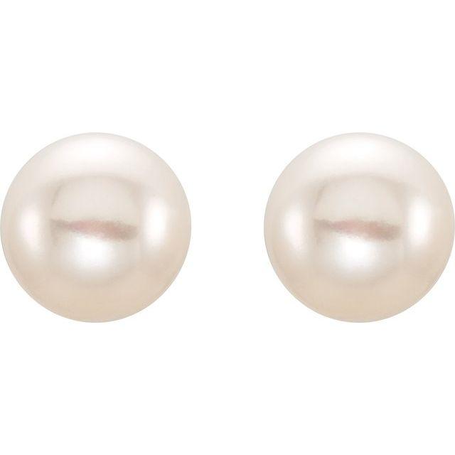 104a65b08 Gemstone Earrings - Freshwater Cultured Pearl Stud Earrings - image #2