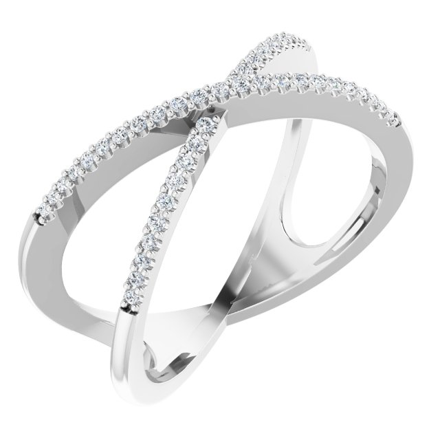 Diamond Fashion Rings - Accented Criss-Cross Ring