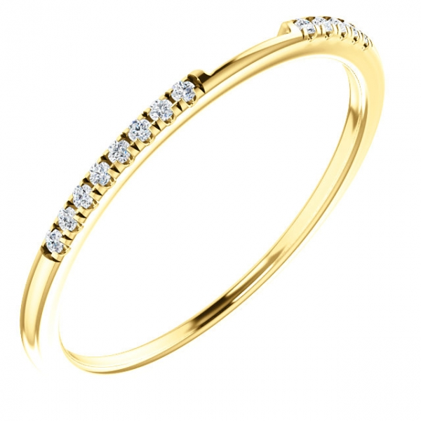 Diamond Fashion Rings - Two-Stone Engagement  Ring Matching Band