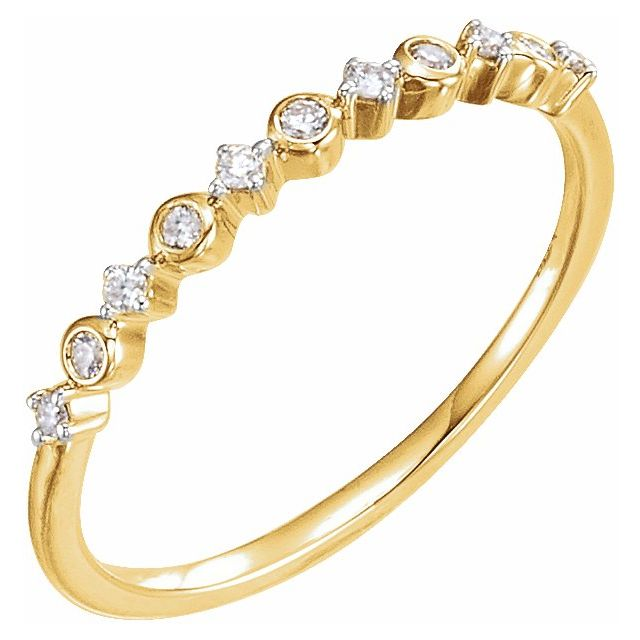 Diamond Fashion Rings - Stackable Ring