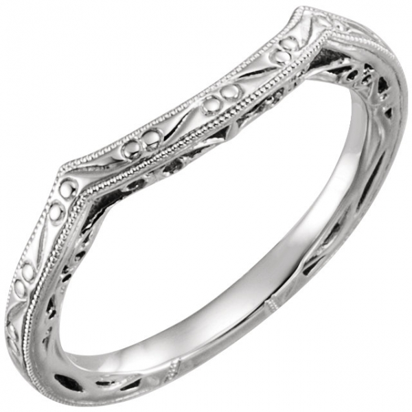 Design-Engraved Engagement Ring Matching Band by Stuller