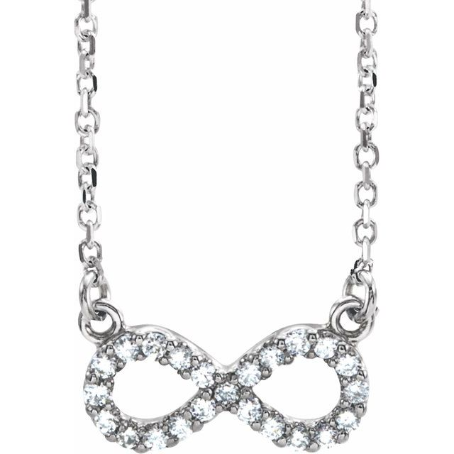 Diamond Necklaces - Infinity-Inspired Necklace