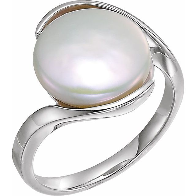 Gemstone rings - Solitaire Ring for Coin Pearl