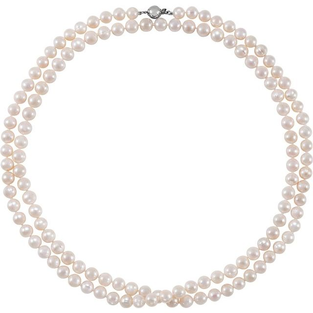 Gemstone Necklaces - Freshwater Cultured Pearl Necklace