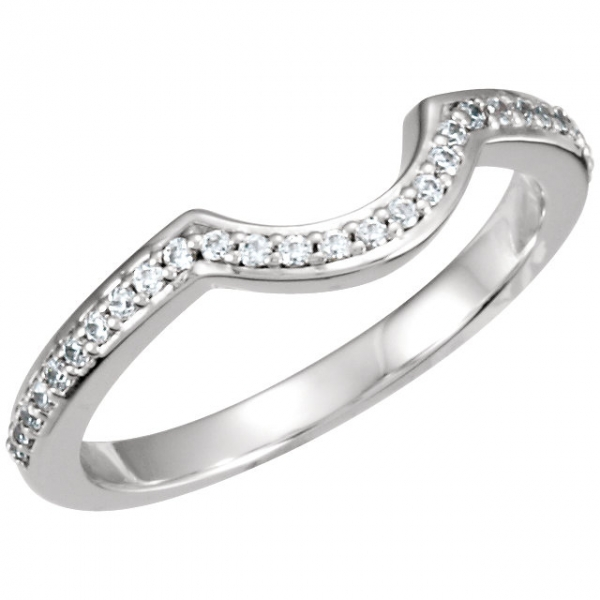 Halo-Style Engagement Ring Matching Band by Stuller