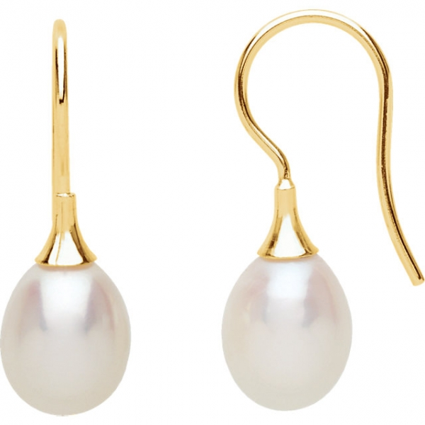Gemstone Earrings - Freshwater Cultured Pearl Earrings