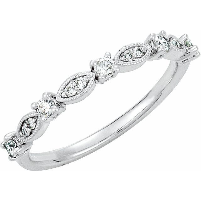 Diamond Fashion Rings - Granulated Stackable Ring