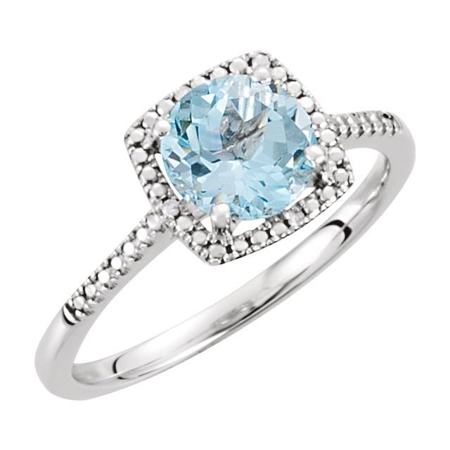Gemstone Rings - Genuine Sky Blue Topaz Ring