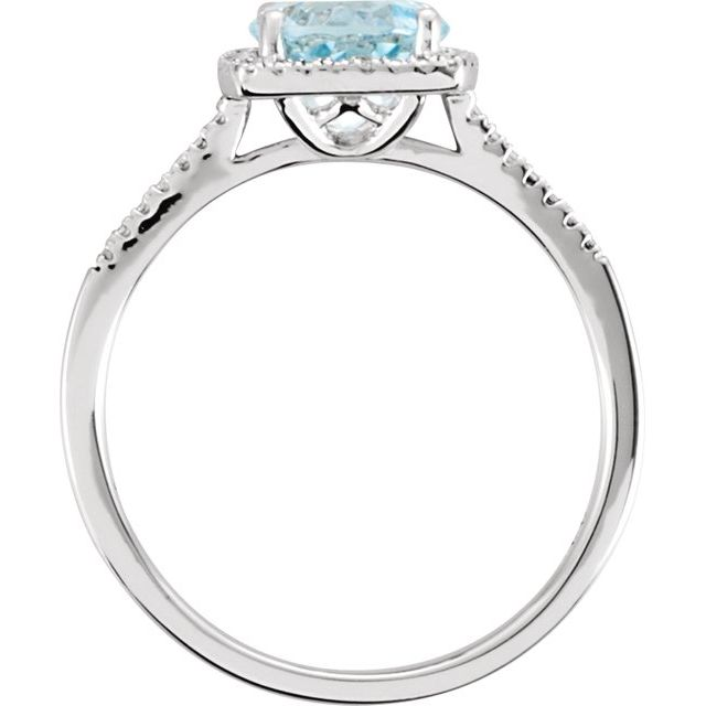 Gemstone Rings - Genuine Sky Blue Topaz Ring - image #2