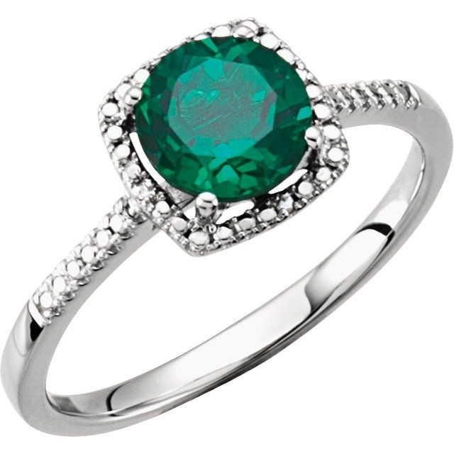 Rings - Halo-Style Birthstone Ring
