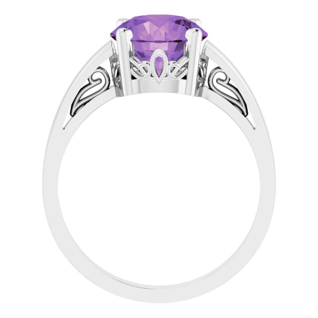 Gemstone rings - Scroll Setting® Ring - image #2