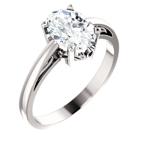Anniversary Bands - Solitaire Scroll Setting® Ring