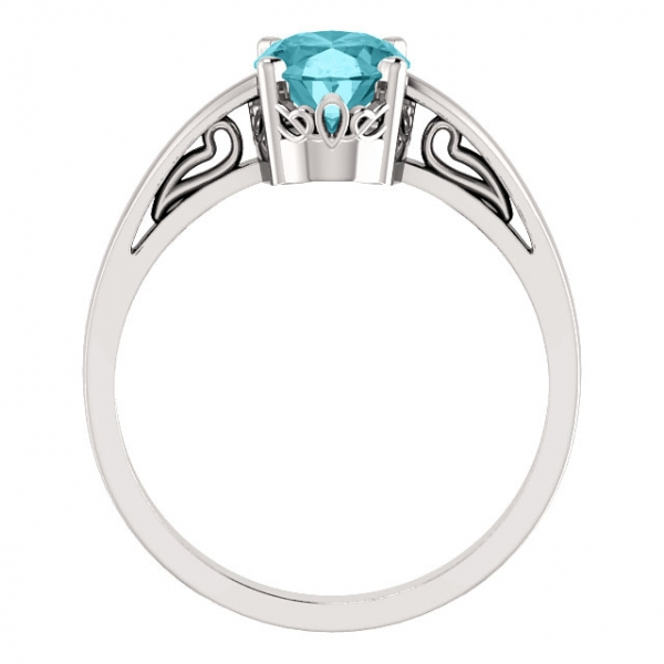 Anniversary Bands - Solitaire Scroll Setting® Ring - image #2