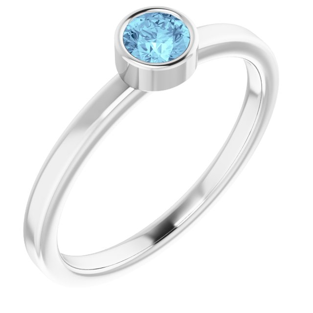 Rings - Bezel-Set Solitaire Ring