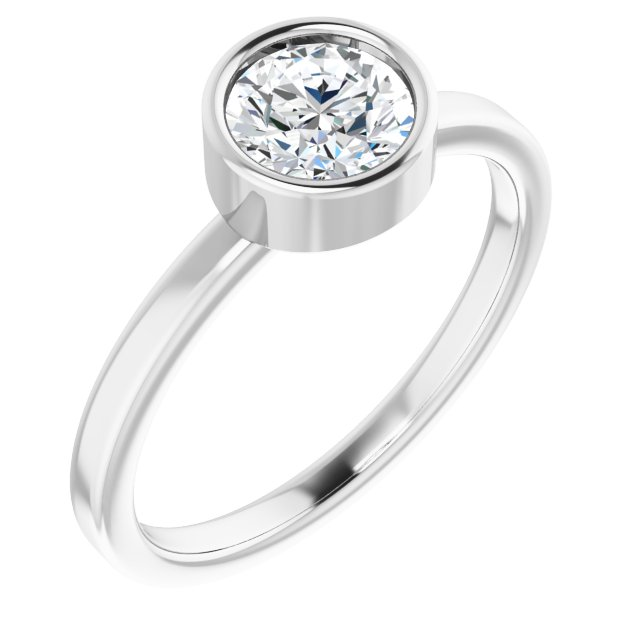 Anniversary Bands - Bezel Set Solitaire Ring