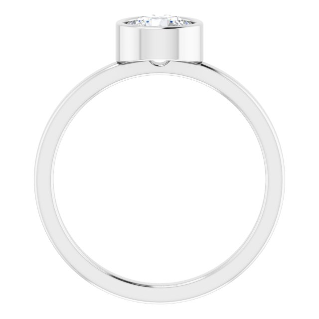 Anniversary Bands - Bezel Set Solitaire Ring - image #2