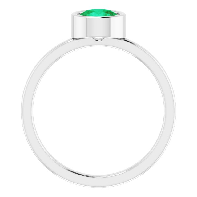 Gemstone Rings - Genuine Emerald Ring - image #2