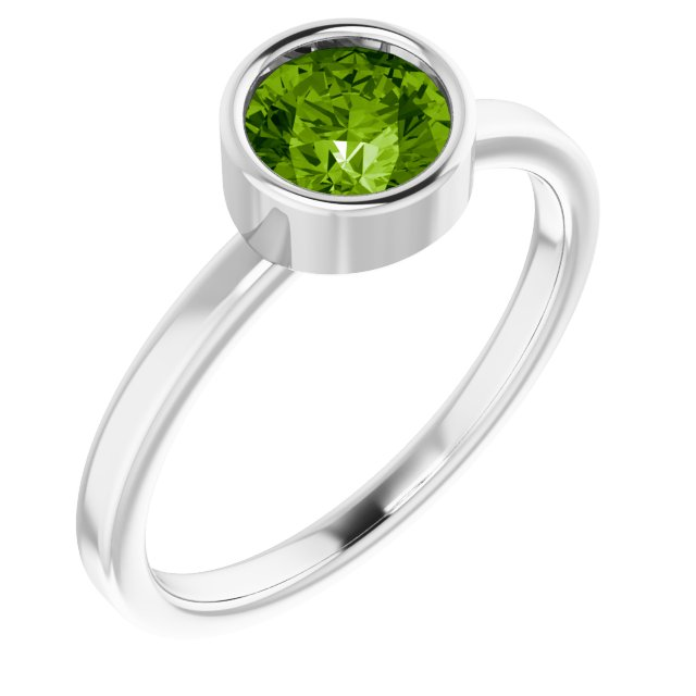Gemstone Rings - Genuine Peridot Ring