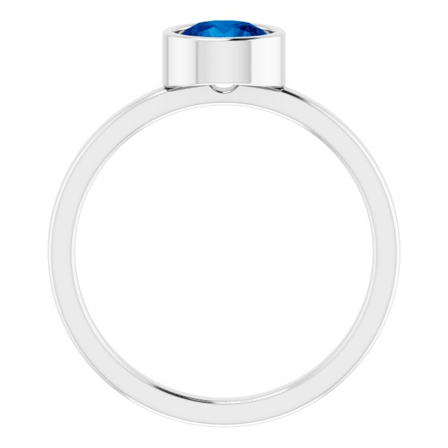 Gemstone Rings - Genuine Blue Sapphire Ring - image 2