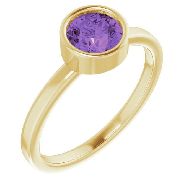 Gemstone Rings - Genuine Amethyst Ring