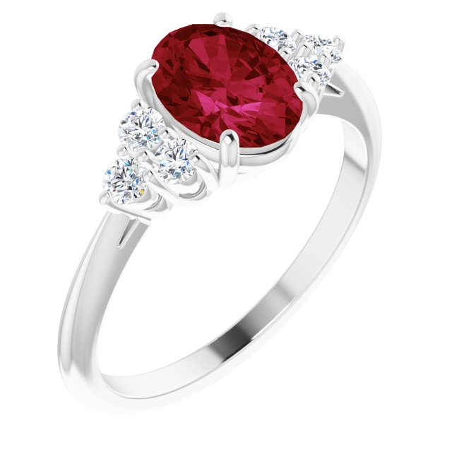 Anniversary Bands - Accented Ring
