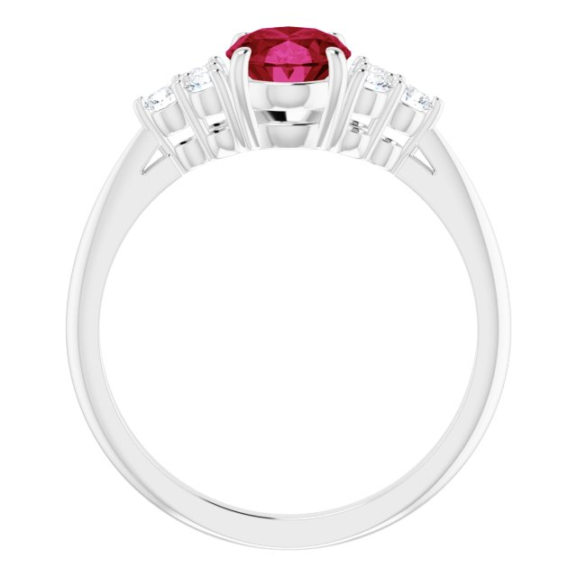 Anniversary Bands - Accented Ring - image #2