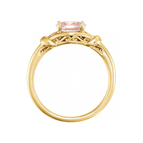 Gemstone Rings - Morganite Ring - image #2