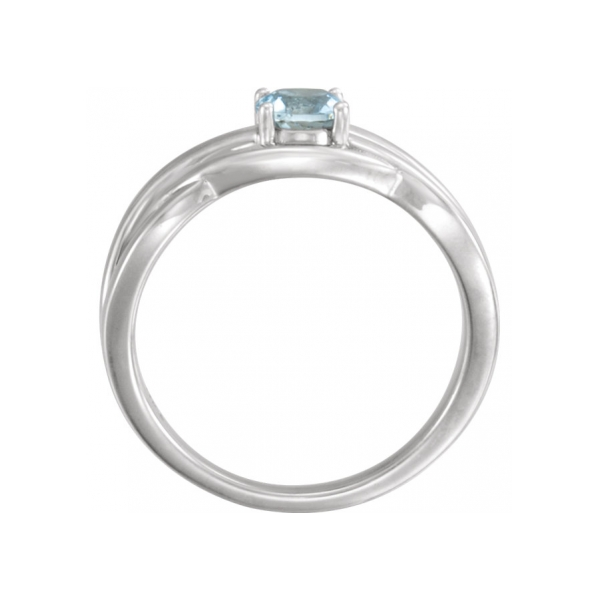 Gemstone Rings - Aqua Ring - image #2