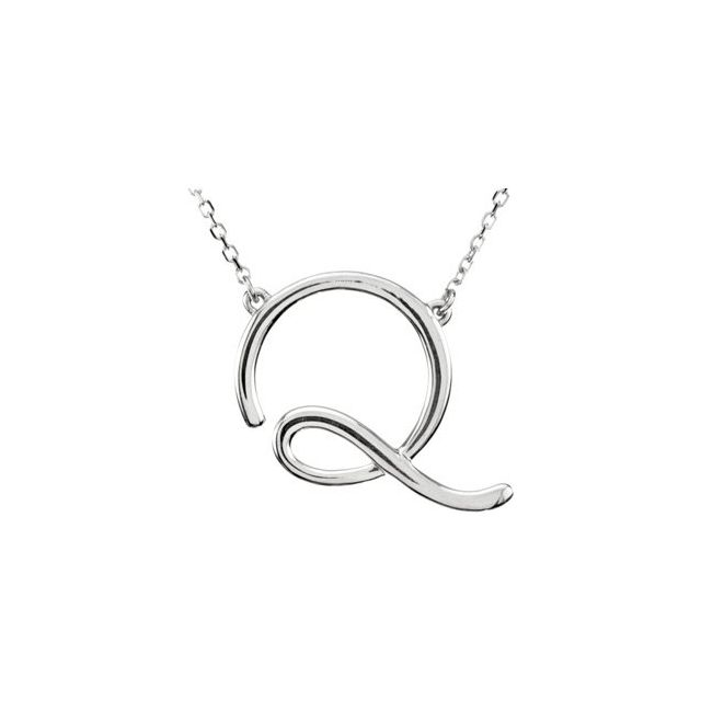Diamond Necklaces - Script Initial Necklace