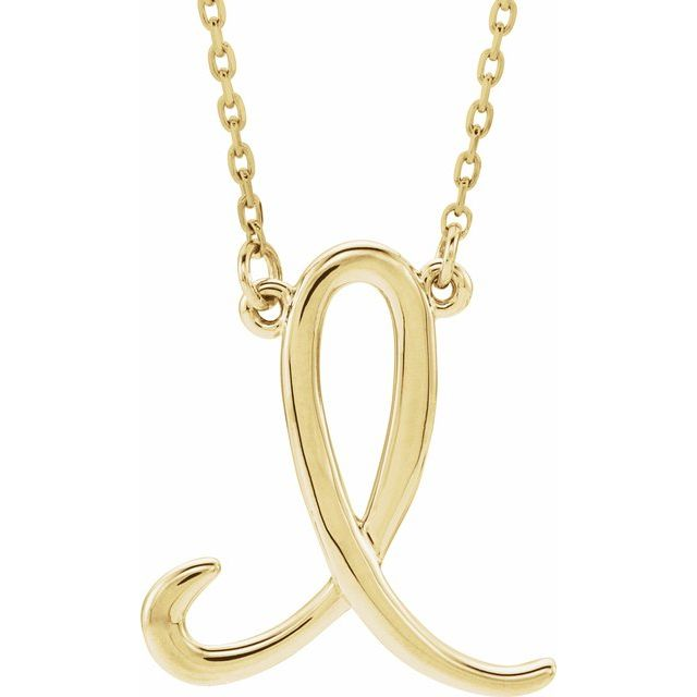 Necklaces - Script Initial Necklace