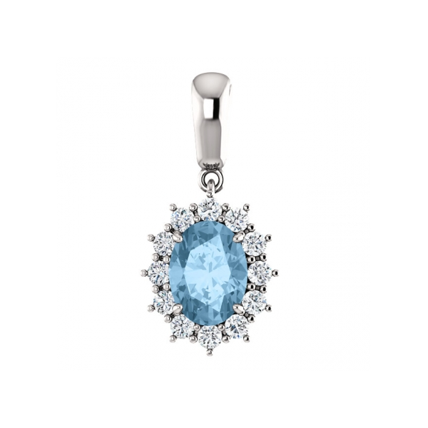 Pendants - Swiss Blue Topaz Pendant