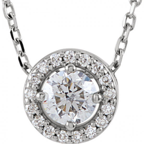 Diamond Necklaces - Halo-Style  Necklace