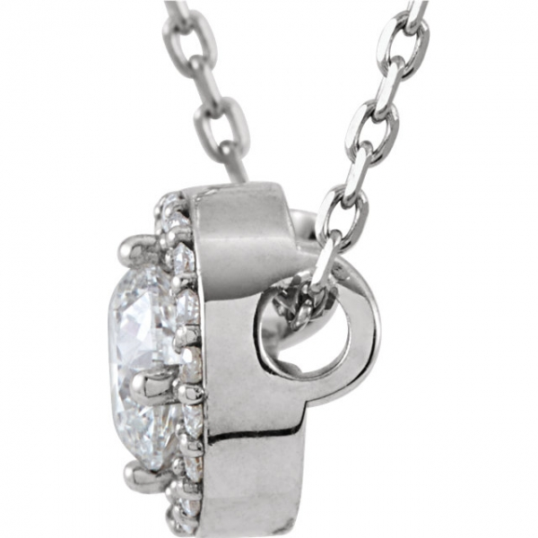 Diamond Necklaces - Halo-Style  Necklace - image #2