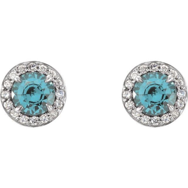 Gemstone Earrings - Genuine Aquamarine Earrings - image 2