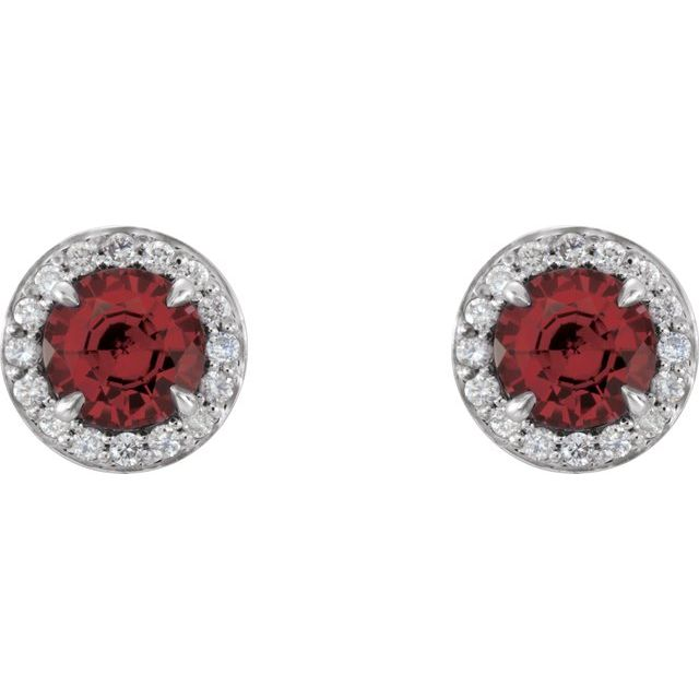 Gemstone Earrings - Genuine Mozambique Garnet Earrings - image #2