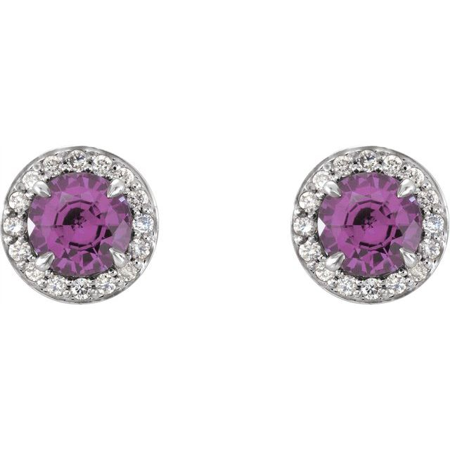 Gemstone Earrings - Genuine Amethyst Earrings - image #2